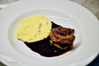 Squab with port glaze and reduction over creamy polenta-8991